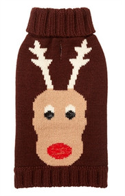 Reindeer Holiday Dog Sweater