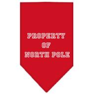 Property of North Pole Dog Bandana