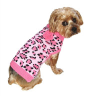 Pink Leopard Dog Sweater