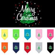 Merry Christmas Tree Dog Bandana