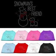 Snowman's Best Friend Dog T-Shirt