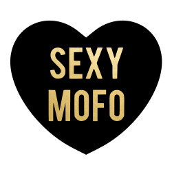 Sexy Mofo metallic gold & black temporary heart tattoo Perfect Valentine's day greeting or addition to any party or celebration!  #FLASHTAT @FlashTattoos