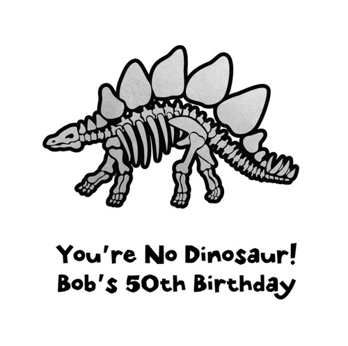 The best way to celebrate your birthday is with the personalized 'Dinosaur Fossil' metallic gold or silver temporary Flash Tattoo.  @FlashTattoos #FLASHTAT