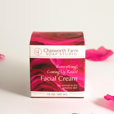 Everything's Coming Up Roses! Facial Cream for sensitive normal to dry skin. Rich, silky and nourishing for a glowing complexion.