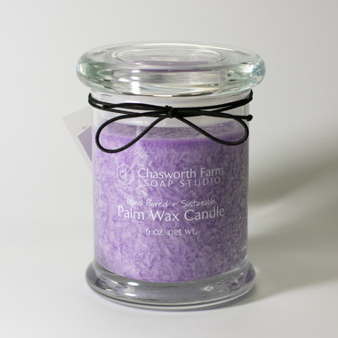 Lavender scented sustainable Palm Wax Candle