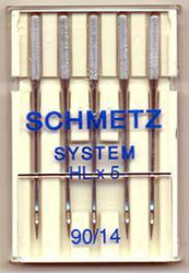 Schmetz Quilter's sewing machine needles (HL X 5)
