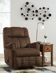 Ashley Craggly Pecan Rocker Recliner