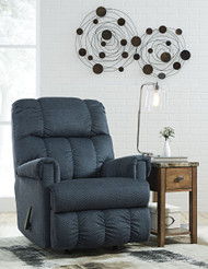 Ashley Craggly Midnight Rocker Recliner