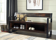 Ashley Glasco Dark Brown Storage Bench