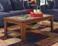 Ashley Toscana Rectangular Cocktail Table With Casters