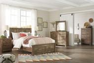 Ashley Blaneville Brown 5 Pc. Queen Storage Bed, Dresser, Mirror & Nightstand