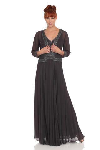 Beaded Chiffon Dress and Jacket