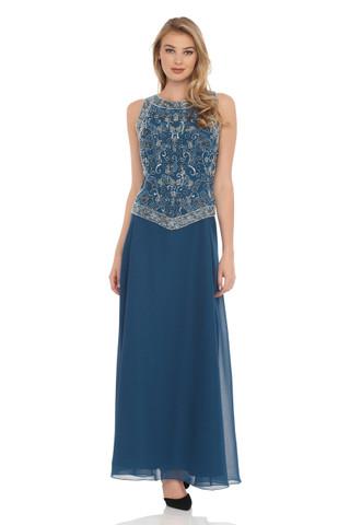 Embellished Dress and Shawl