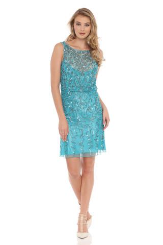 Blouson Dress w A-line Hem