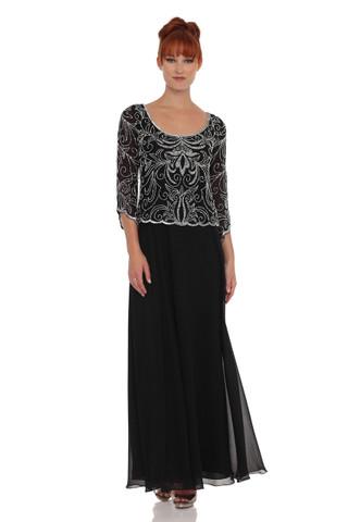 Embellished Mock Two Piece Dress