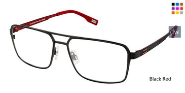 Black Red Evatik 9166 Eyeglasses.