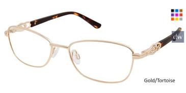 Gold/Tortoise Superflex SF-530 Eyeglasses.