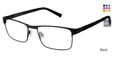 Black Superflex SF-502 Eyeglasses.