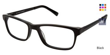 Black Superflex SF-484 Eyeglasses.