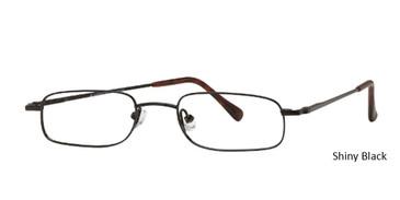 Shiny Black Vivid  Eyeglasses Euro-Steel Flex 75.