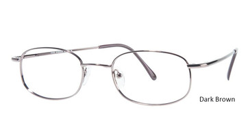 Dark Brown Vivid Eyeglasses Eurosteel 101.