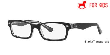 Black/Transparent RayBan Eyeglasses ORY1530 - Black/Transparent - Blue/Light Blue - Violet - Brown/Green - Blue - Violet/Purple-Reddish - Red.