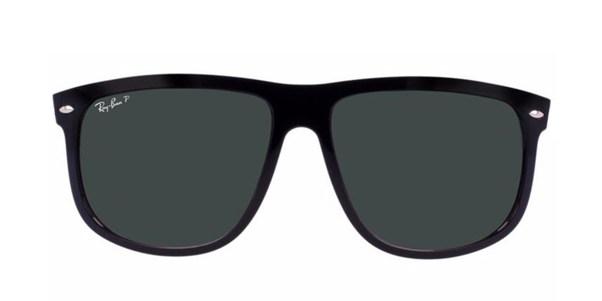Black RayBan Sunglasses ORB4147 POLARIZED - Black - Tortoise,Front view.