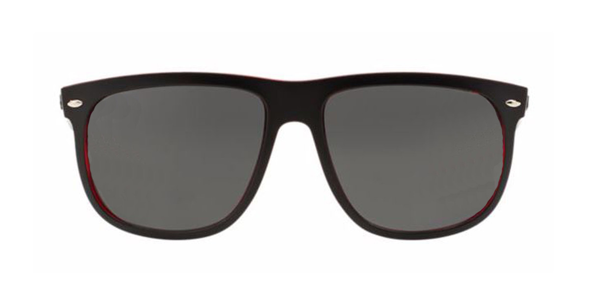 Black/Red RayBan Sunglasses ORB4147 - Black/Red,Front view.