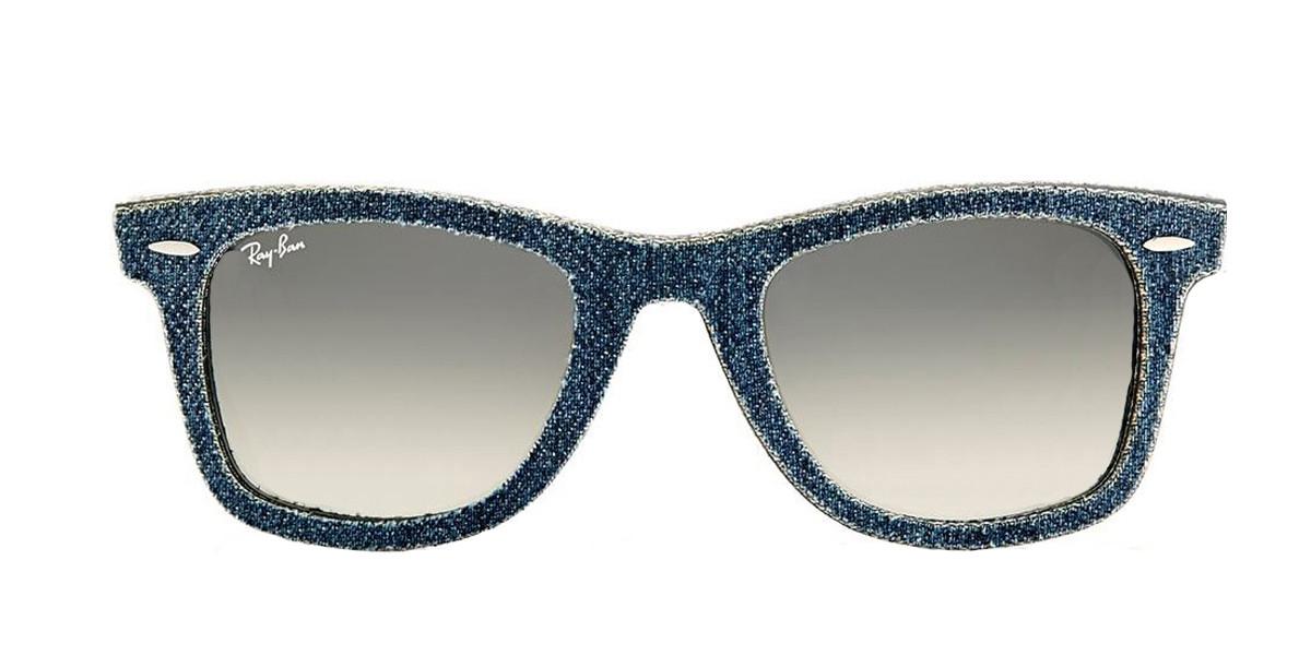 Blue RayBan Sunglasses ORB2140 ORIGINAL WAYFARER DENIM - Blue,Front view.