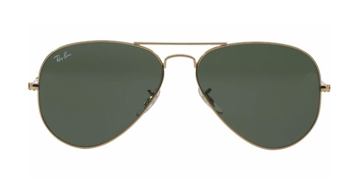 Gold L0205 RayBan Sunglasses ORB3025 AVIATOR CLASSIC - Gold,Front view.