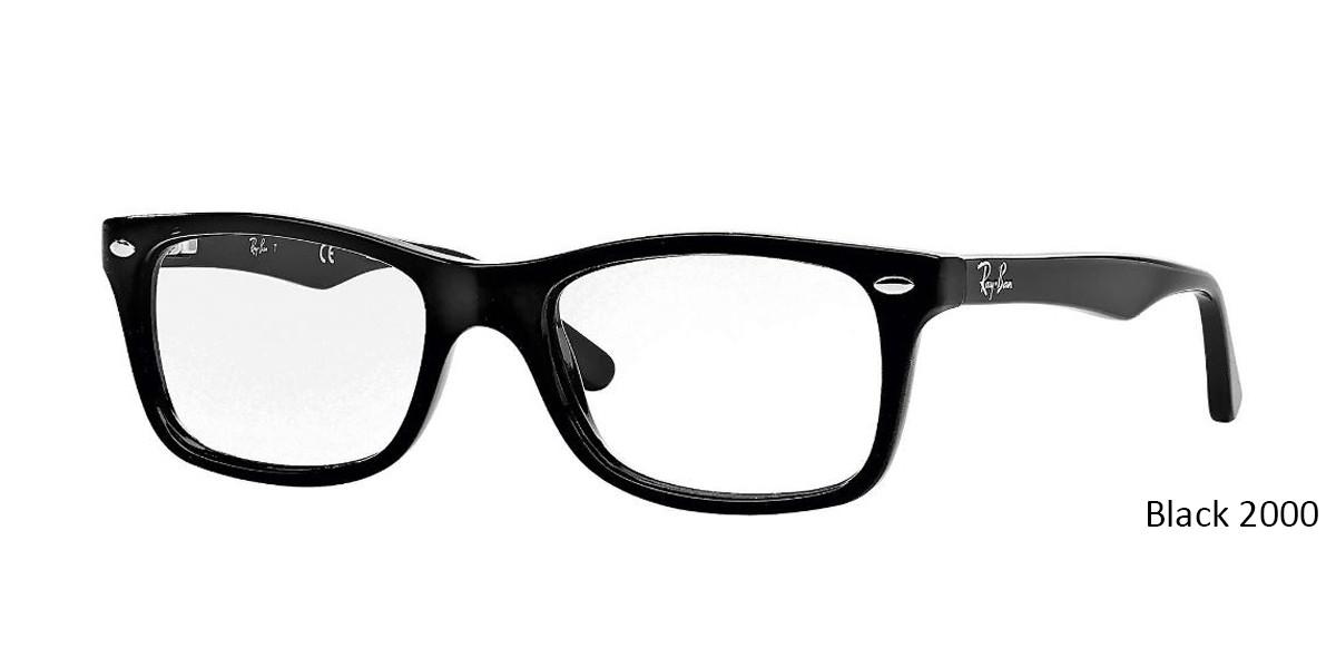 Black 2000 RayBan Eyeglasses 0RX5228 - All Colors.