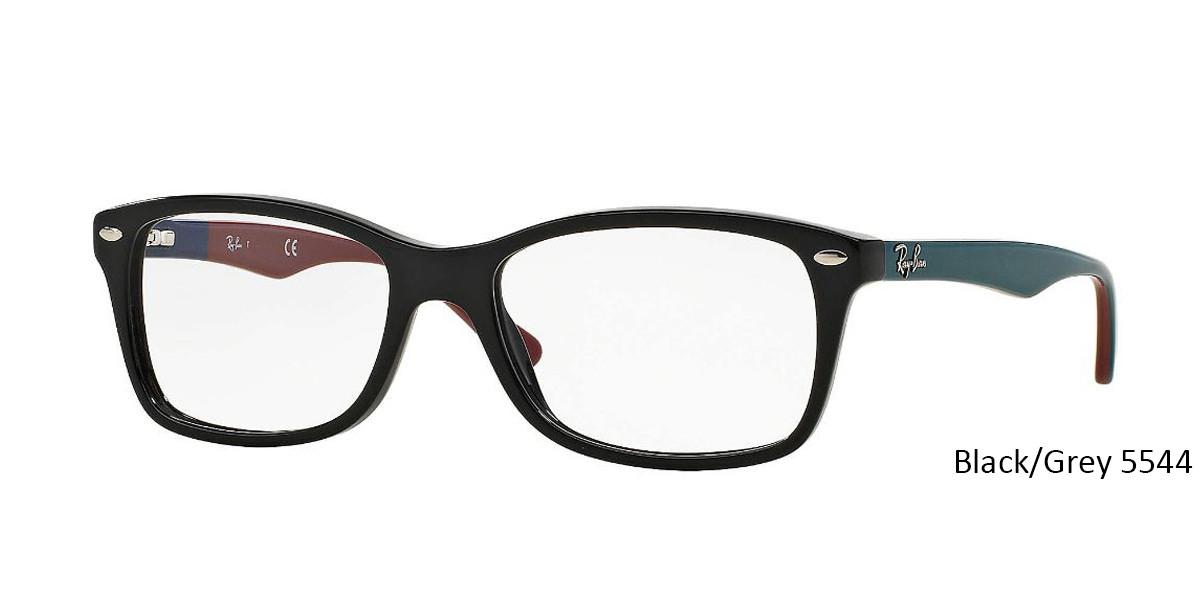 Black/Grey 5544 RayBan Eyeglasses 0RX5228 - All Colors.