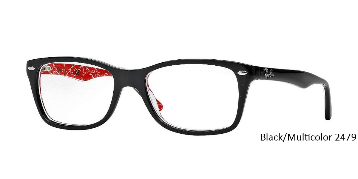 Black/Multicolor 2479 RayBan Eyeglasses 0RX5228 - All Colors.