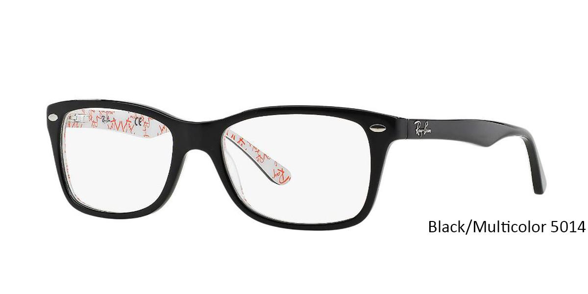 Black/Multicolor 5014 RayBan Eyeglasses 0RX5228 - All Colors.