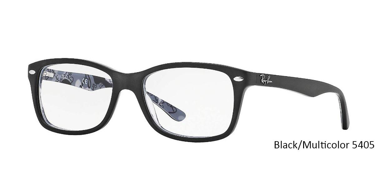 Black/Multicolor 5405 RayBan Eyeglasses 0RX5228 - All Colors.