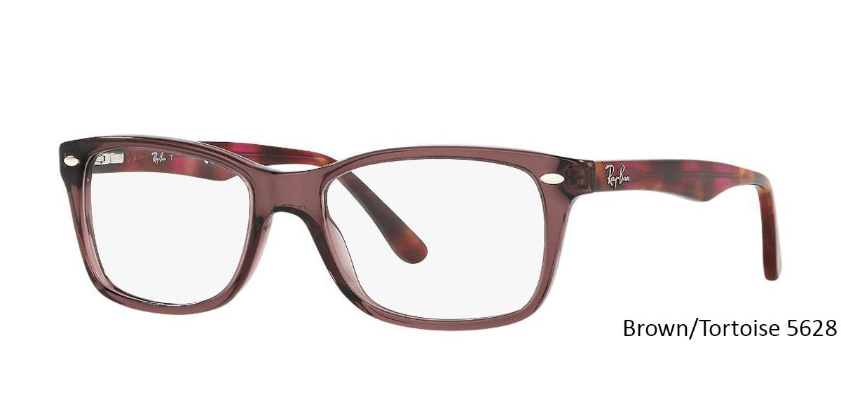 Brown/Tortoise 5628 RayBan Eyeglasses 0RX5228 - All Colors.