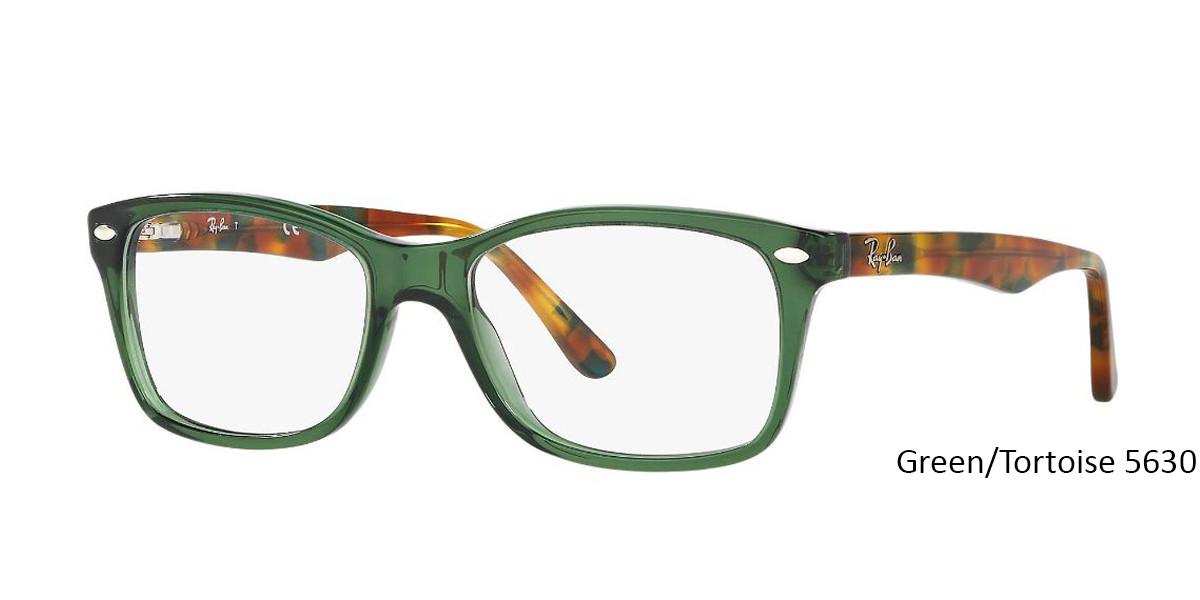 Green/Tortoise 5630 RayBan Eyeglasses 0RX5228 - All Colors.