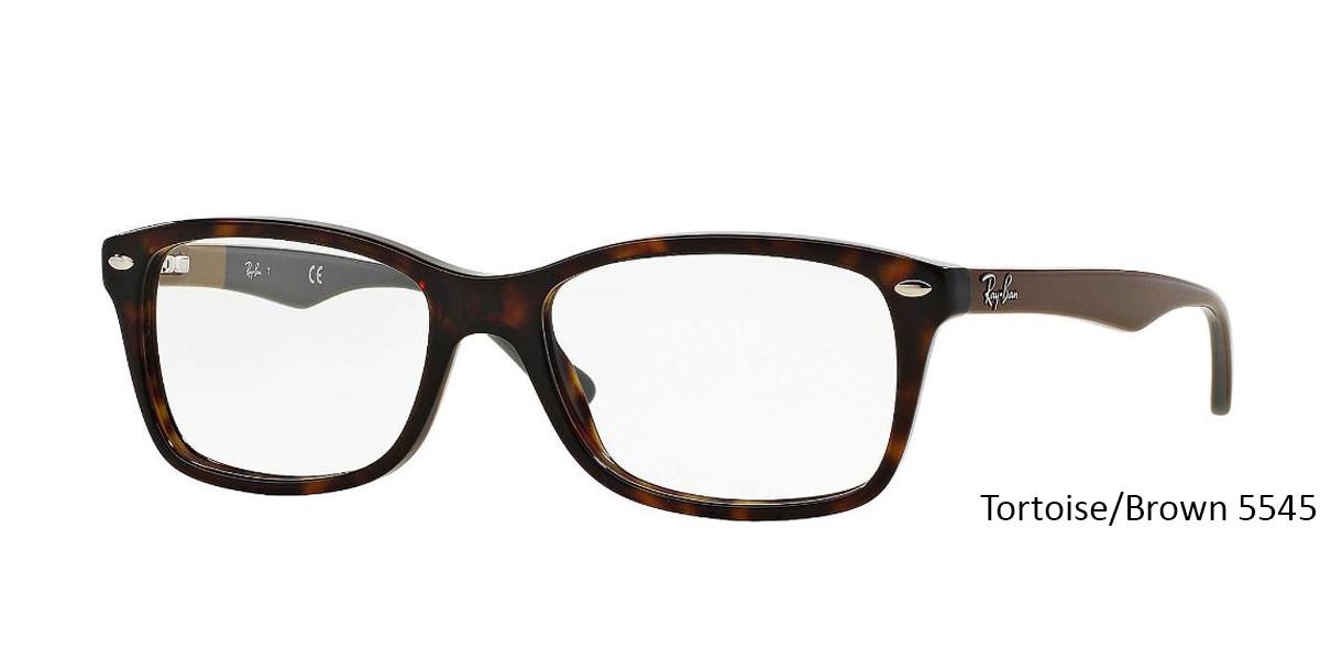 Tortoise/Brown 5545 RayBan Eyeglasses 0RX5228 - All Colors.