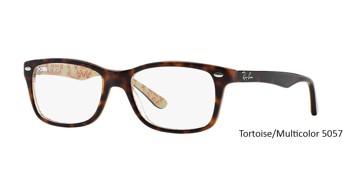 Tortoise/Multicolor 5057 RayBan Eyeglasses 0RX5228 - All Colors.