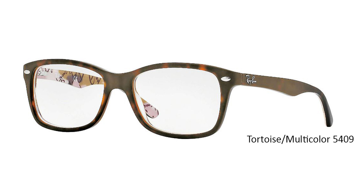 Tortoise/Multicolor 5409 RayBan Eyeglasses 0RX5228 - All Colors.