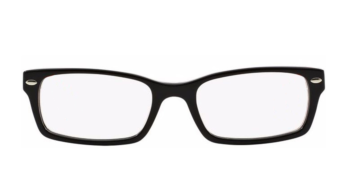 Black/Red RayBan Eyeglasses 0RX5206 - All Colors,Front view.