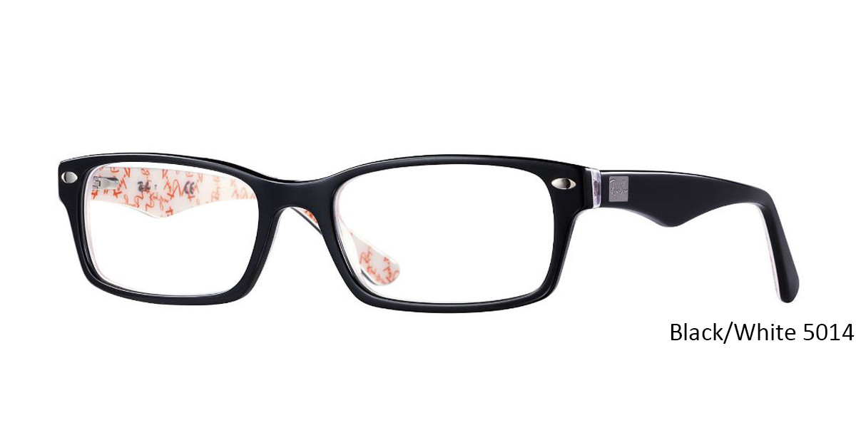 Black/White 5014 RayBan Eyeglasses 0RX5206 - All Colors.