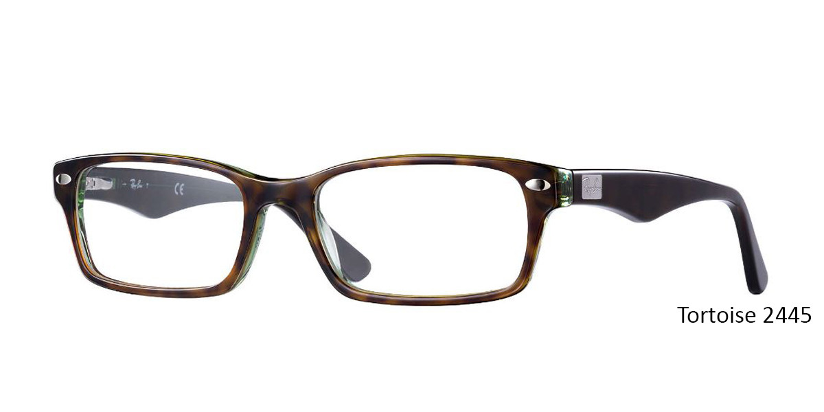 Tortoise 2445 RayBan Eyeglasses 0RX5206 - All Colors.