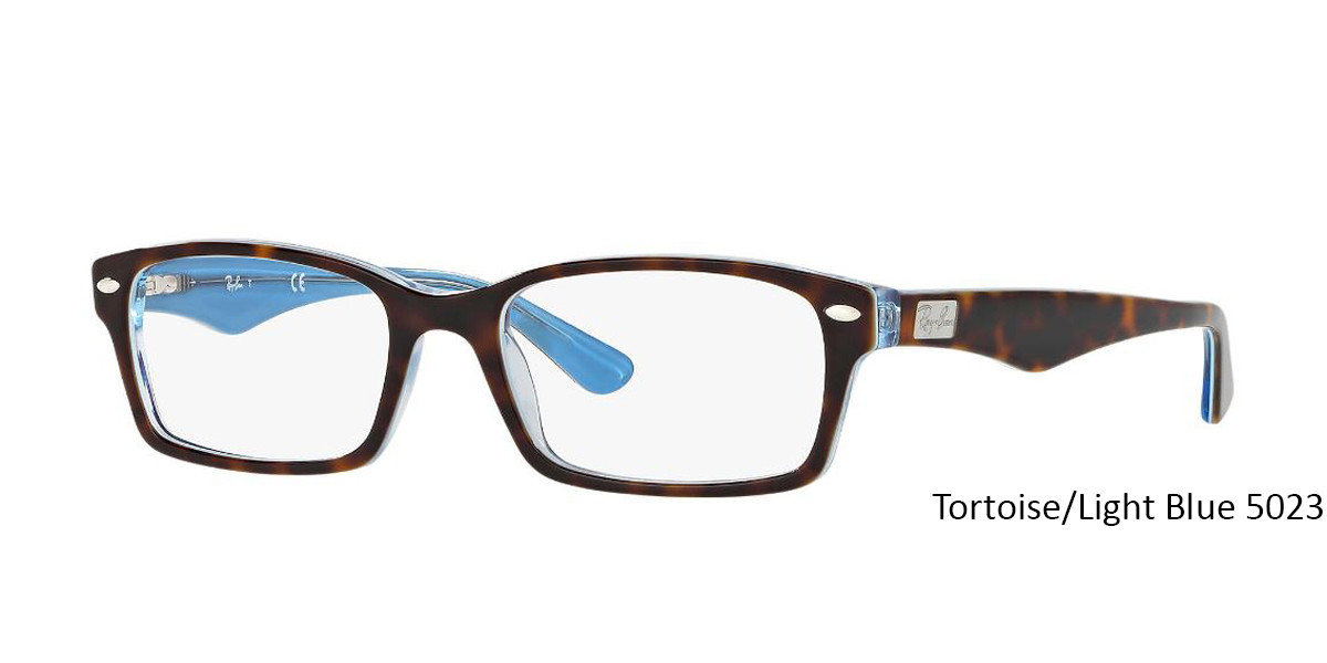 Tortoise/Light Blue 5023 RayBan Eyeglasses 0RX5206 - All Colors.