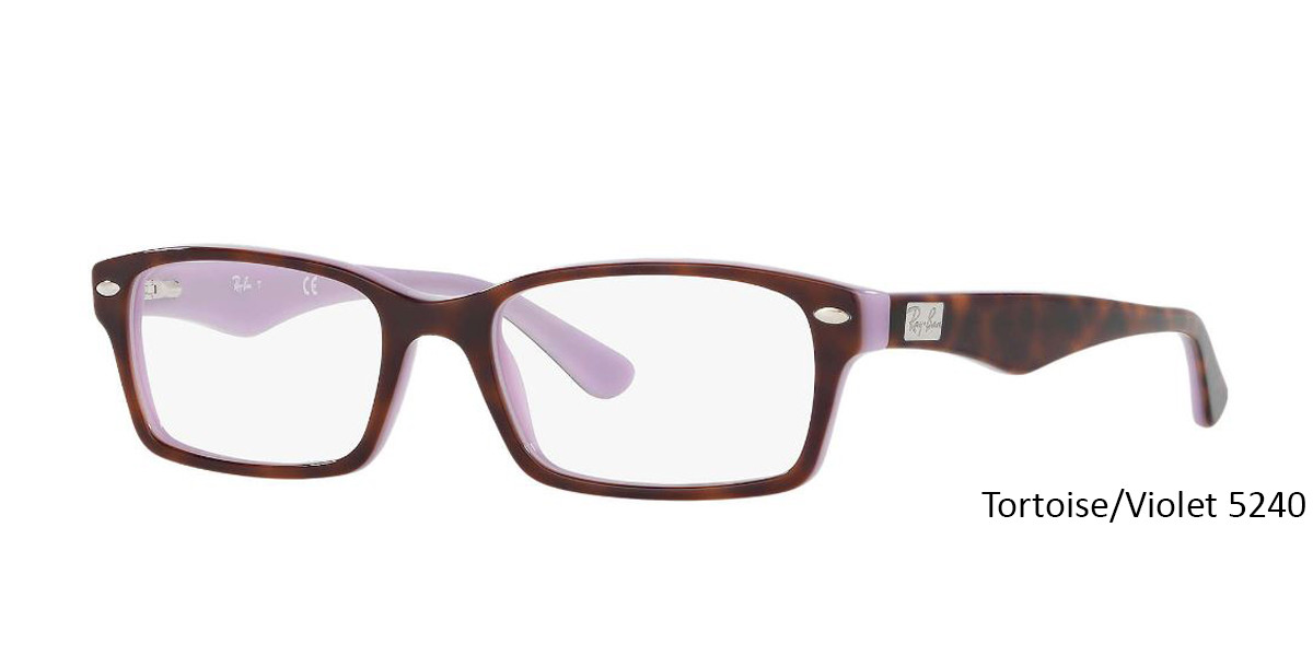 Tortoise/Violet 5240 RayBan Eyeglasses 0RX5206 - All Colors.