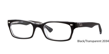Black/Transparent 2034 RayBan Eyeglasses 0RX5150.