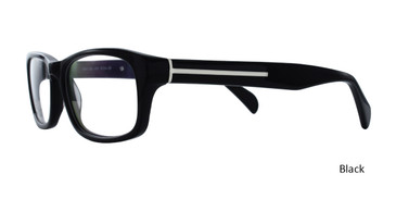 Black Geek Eyeglasses BELLA ITALIA 320.