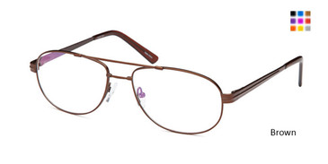 Brown Daniel Walters FX 103 Eyeglasses .