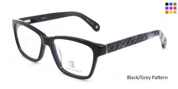 Black/Grey Pattern CIE SEC102 Eyeglasses.
