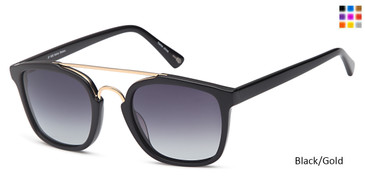 Black/Gold Daniel Walters JF 608 Sunglasses.